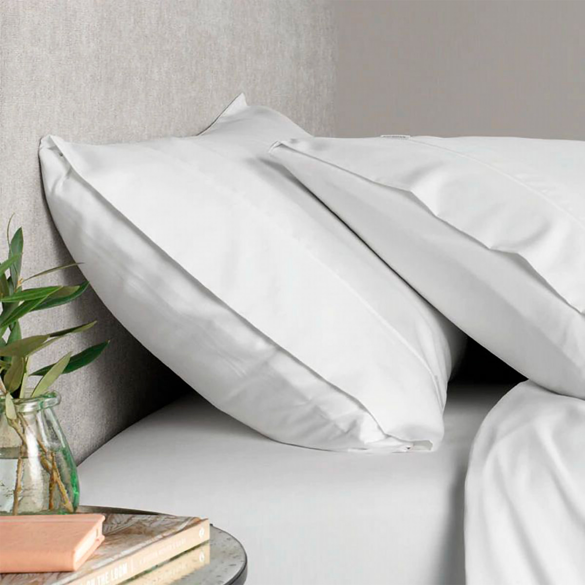 Sheridan Tencel™ Lyocell Fibre & Cotton Pillowcase Pair White