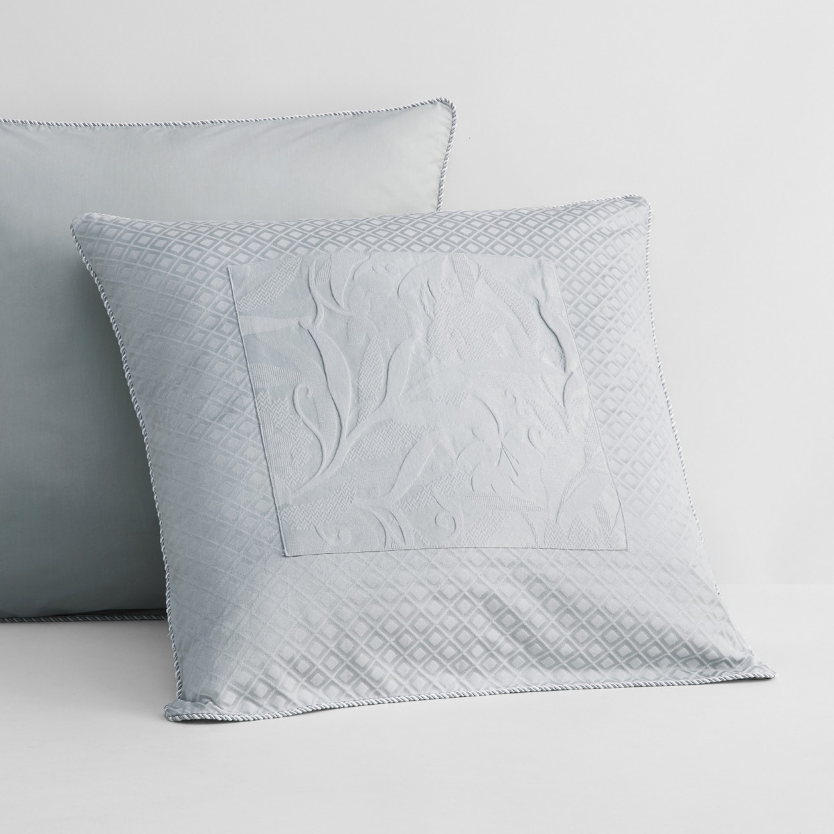 Sheridan Corniche European Pillowcase Frost Grey