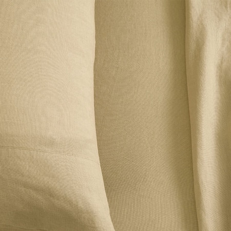 sheridan abbotson linen fitted sheet honey