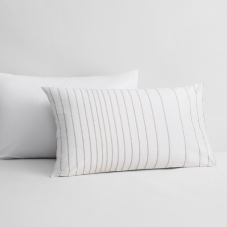 Sheridan Carrondown Pillowcase Pair Flax