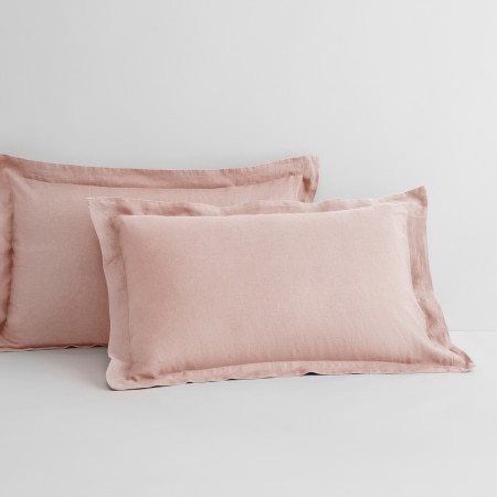 Sheridan Abbotson Linen Pillowcase Pair Blush