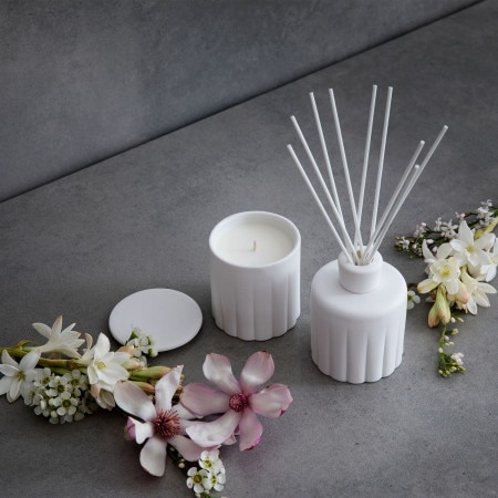 Ivory Bloom Candle