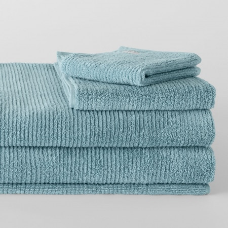 Living Textures Towel Collection Misty Teal