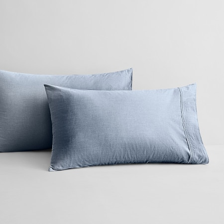 Sheridan Reilly Pillowcase Pair Chambray