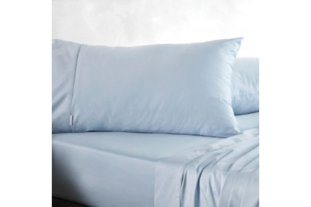 400tc soft sateen pillowcase pair