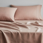 Abbotson Linen Flat Sheet in clay