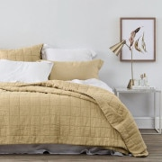 Sheridan Abbotson Linen Bed Cover Honey