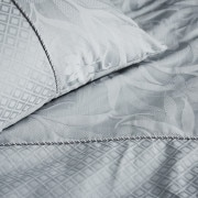Sheridan Corniche Pillowcase Pair Frost Grey