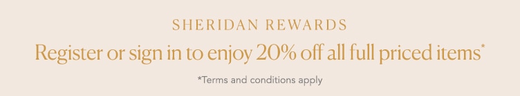 Sheridan Rewards 20% off